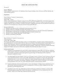 Pr Resume Objective Public Relations Resume Template O Public