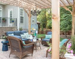 patio decorating ideas. Unique Patio See How We Transformed Our Boring Back Yard With The Addition Of A Paver  Patio And Throughout Patio Decorating Ideas N