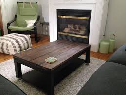 new dark brown rectangle farmhouse wood lack coffee table with storage designs to setup living room