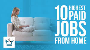 highest paid jobs you can do from home