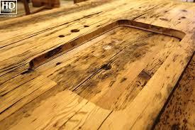 table tops custom threshing floor furniture rustic distressed barnwood top ideas reclaimed wood