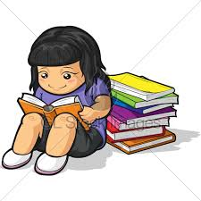 a vector image of a student studyin