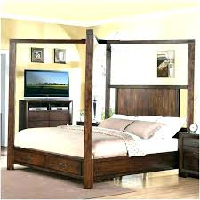 King Size Wood Canopy Bed Wood Canopy Bed King Size Wood Canopy Bed ...