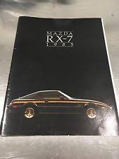 rx7 manual 1985 mazda rx 7 brochure and specifications manual book rx7 gs gsl gsl se