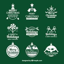 Elegant Christmas Logo Collection Vector Free Download