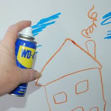 WD40 pode ser usado para remover marcas de crayon em qualquer superfície