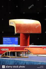 Vault gymnastics Old School Vault Table At British Gymnastics Competition With The Spring Board In Foreground Youtube Vault Table At British Gymnastics Competition With The Spring