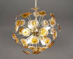 Glass Pendant Light Electroplated With Silver For Home Decor