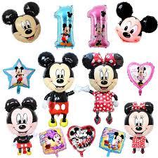 <b>1PC</b> Big <b>Mickey Minnie</b> Foil Balloon Happy Birthday Party ...