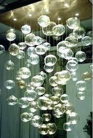 glass bubble chandelier light bubbles fixture custom from