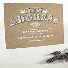 Card Invitation Samples Address Change Cards Modern Design Brown