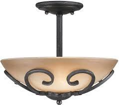 golden lighting 1821 sf bi madera country black iron semi flush flush mount loading zoom