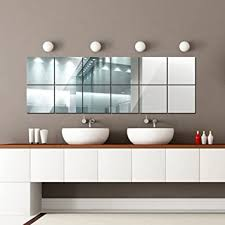 <b>16 PCS</b> Square <b>Mirror</b> Wall Stickers, 15X15cm DIY Design can be ...