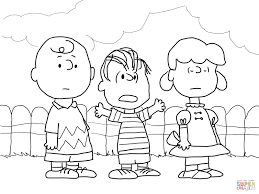 Charlie Brown Lucy And Linus Coloring