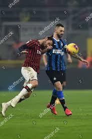 Hakan Calhanoglu Milan Marcelo Brozovic Inter during Redaktionelles  Stockfoto – Stockbild