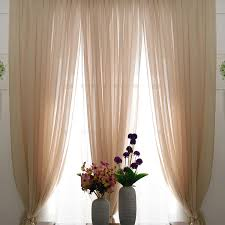 interesting design lace curtains for living room romantic beige color sheer lace curtains