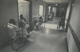 in some nursing homes the residents have little to do except sit and wait