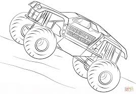 Maximum Destruction Monster Truck coloring page | Free Printable ...