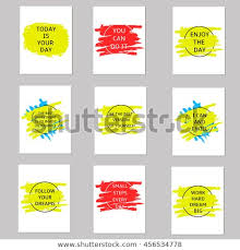 Motivation Templates Motivation Cards On Colorful Spot Templates Stock Vector Royalty