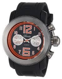 big faced watches for men breda men s 8208 orange