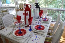 red and white table decorations. 4th Of July Table Decorations Hoosier Homemade Red And White