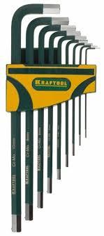 <b>Набор</b> имбусовых <b>ключей Kraftool</b> 27445-H9 (9 пре... — купить по ...