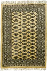 handknotted beige persian bokhara traditional wool rugs