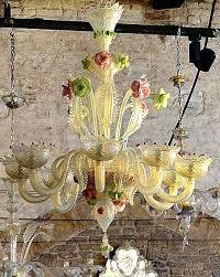 murano glass chandelier x 1 vintage