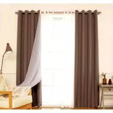 Image Drapery Rods Darazpk Fancy Cotton Silk And Net Curtain For Homeoffice 2pc