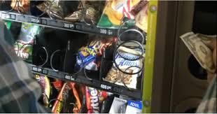 Stuck Vending Machine Delectable College Students Get Stuck Chips Out Of Vending Machine POPSUGAR Food