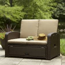outdoor furniture loveseat luxury ty pennington style bowman convertible love seat lounge bed