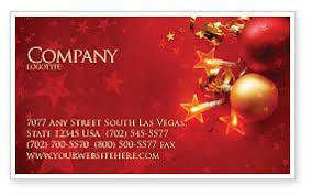 Business Christmas Card Template Red Christmas Theme Business Card Template Layout Download