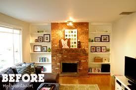ugly brick fireplace