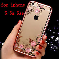 iphone 5s gold case for girls. aliexpress.com : buy yuetuoi rose pink soft luxury phone cover case for apple iphone iphone5 5 5s 5se se s clear transparent girl diamond back tpu from gold girls a