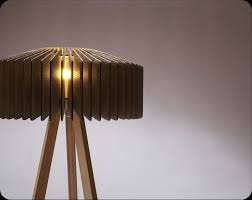 cardboard furniture design. groove lamp shade by tane design made with cardboard sections furniture