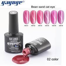 Yayoge 6colors Magnetic Red Bean Cat Eye Gel Soak Off Varnish Uv Led Nail Gel Polish