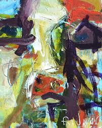 artwork painting abstract cow by robert joyner