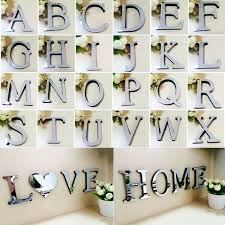 details about diy 3d mirror wall sticker letters art mural home room decor eva acrylic decals