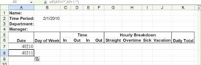 Internship Daily Time Sheet Template Log Record Excel Sample ...