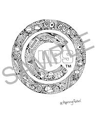 Small Picture Chicago Cubs Doodle Coloring Page Adult Coloring Page Sports