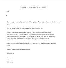 donation reciept letter donation receipt letter for tax purposes charitable donation letter