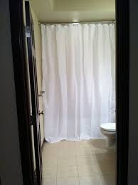 white cotton shower curtain extra long
