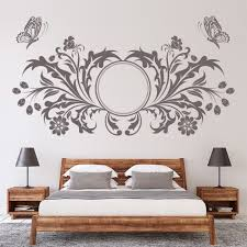 fl erfly design flowers wall