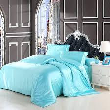 navy blue duvet cover nz idouillet classic imitate silk satin plain solid blue pink bedding set