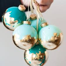diy painted gold leaf ornaments the