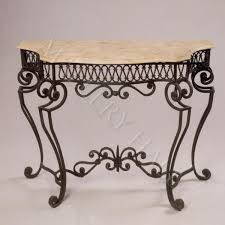 iron console table. Small Europeon Hand Forged Iron Console Table