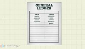 Bookeeping Ledger General Ledger