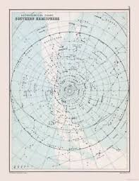 Star Charts For Southern Hemisphere Details About Star Chart Of Southern Hemisphere Bartholomew 1892 23 X 30 01