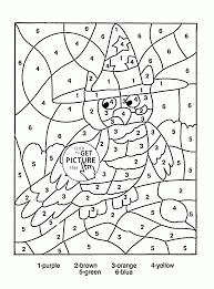 Small Picture Color by Number Owl coloring page for kids education coloring