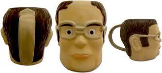 the office coffee mugs. the office dwight schrute headshaped mug coffee mugs